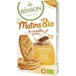 Bisson Biscuiti bio ovaz & susan cu seminte de in MATIS x 210g
