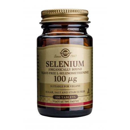 Selenium 100ug x 100 tab. Solgar