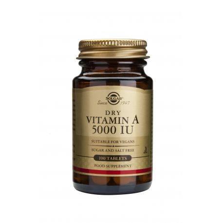 Vitamina A 5000IU x 100 tablete Solgar