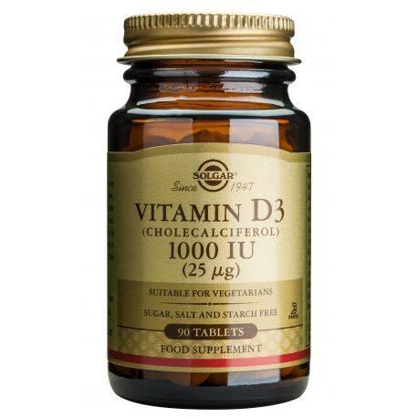 Vitamin D3 1000ui x 90 tab. Solgar