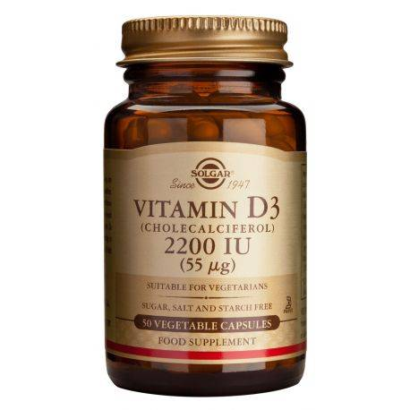 Vitamin D3 2200ui x 50 caps. Solgar