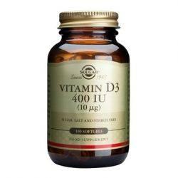 Vitamin D3 400 IU x 100 caps. cu gel Solgar