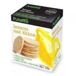Biscuiti fara gluten din ovaz cu lamaie x 150g Pulsetta