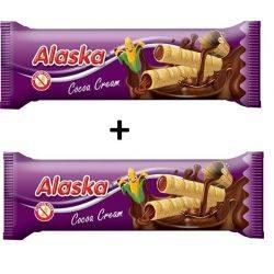 Oferta 1+1 Pufuleti de porumb umpluti cu crema de cacao fara gluten x 18g Alaska