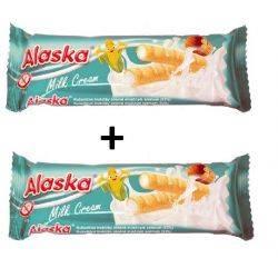 Oferta 1+1 Pufuleti de porumb umpluti cu crema de lapte x 18g Alaska