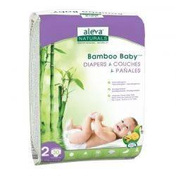 Bamboo Baby Scutece din fibre de bambus x 30buc Aleva Naturals