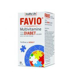 Favio Multivitamine care contribuie la reglarea glicemiei x 60cp