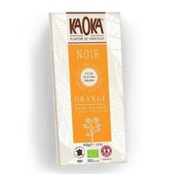 Ciocolata neagra 55% cacao cu portocale x 100g Kaoka