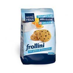 Biscuiti Frollini fara gluten cu bucati de ciocolata x 250g Nutrifree