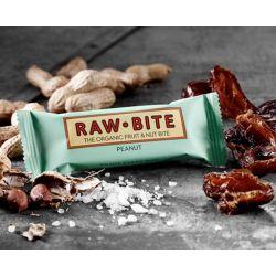 RawBite Baton proteic cu arahide x 50g