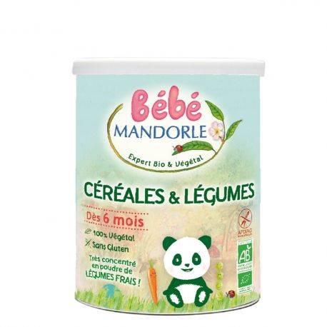 Cereale si legume pentru bebelusi de la 6 luni x 400g Bebe Mandorle