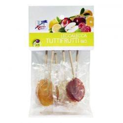 Acadele bio cu fructe Lollypops (indulcite cu sirop de orez) x 50g La Finestra sul Cielo