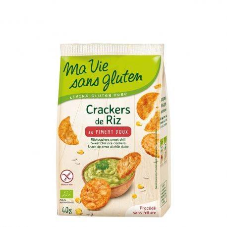 Crackers din orez cu ardei dulce fara gluten x 40g Ma Vie Sans Gluten