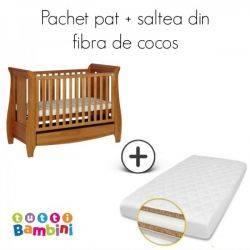 Set patut + salteluta pentru bebelusi Katie Oak Tutti Bambini