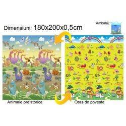 Covoras Animale preistorice/Oras de poveste 180x200x0.5cm Baby Swimmer