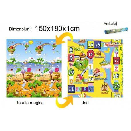 Covoras Insula magica/Joc 150x180x1cm Baby Swimmer