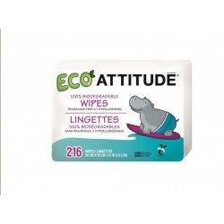 Rezerva servetele umede, 100% biodegradabile x 216buc Attitude