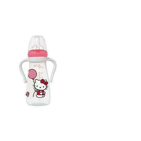 Hello Kitty Biberon PP 300ml+toarte+tetina silic.3 vit.M1(0-6L)