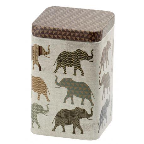 Sinas Cutie metalica patrata cu elefanti x 100g