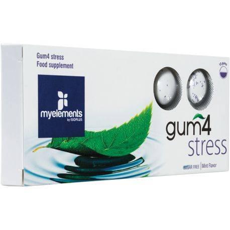 GUM4 STRESS Guma de mestecat fara zahar x 10buc MyElements