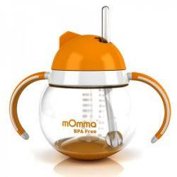 Lansinoh Canuta portocalie cu pai si manere x 250ml