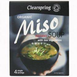 Supa Miso instant cu alge marine ECO x 40g Clearspring