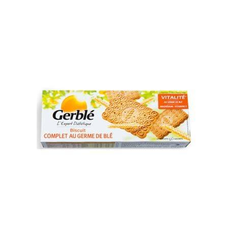 Biscuiti integrali cu germeni de grau x 210g Gerble