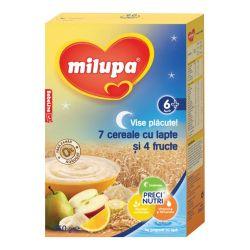 Cereale Vise placute 7 Cereale cu lapte si 4 Fructe x 250g Milupa