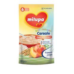 Cereale fara lapte Buna Dimineata cu orez si piersici x 180g Milupa