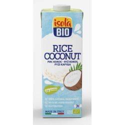 Lapte vegetal bio din orez cu cocos fara gluten, fara lactoza x 1000ml Isola Bio
