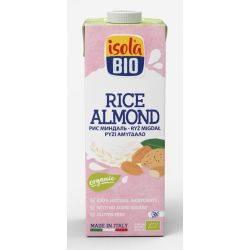 Bautura bio din orez cu migdale fara gluten, fara lactoza x 1000ml Isola Bio