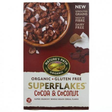 Fulgi crocanti de cereale cu cacao si cocos fara gluten ECO x 284g Nature's Path