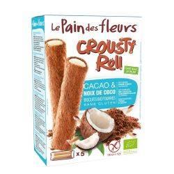 Rulouri Crousty Roll cu cacao si cocos fara gluten x 125g Le pain des fleurs