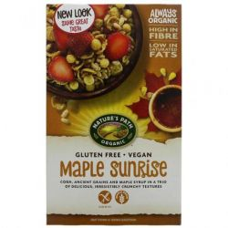 Cereale fara gluten cu sirop de artar si seminte de in ECO x 332g Nature's Path