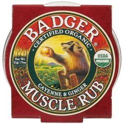 Mini balsam masaj dureri musculare cu ardei Cayenne si ghimbir x 21g Badger