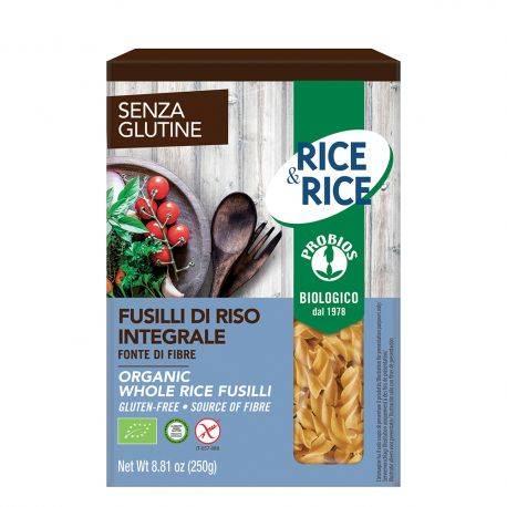 Fusilli de orez integral fara gluten x 250g Rice Rice