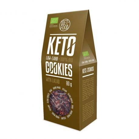 Fursecuri keto raw vegane cu cacao x 80g Diet Food