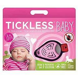 Repelent ultrasonic anticapuse pentru copii 0-5 ani, culoare roz Tickless Baby