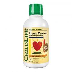 Calcium with Magnesium x 474ml (gust de portocale) ChildLife Essentials