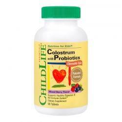 Colostrum Plus Probiotics Chewable Tabs x 90tb masticabile ChildLife Essentials