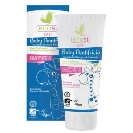 Pasta de dinti pentru copii cu aroma vanilie ECO x 75ml Ecosi