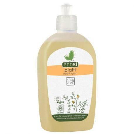 Detergent solutie pentru spalat vase cu ulei esential de portocale, lamaie si menta ECO x 500ml ECOSI