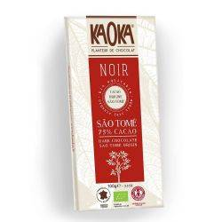 Ciocolata neagra 75 % Sao Tome x 100g Kaoka