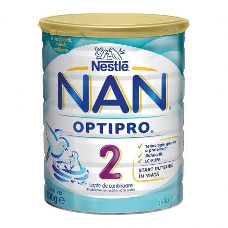 Lapte praf Nan Optipro 2 x 800g Nestle