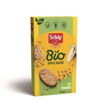 Apple Bisco Cookies fara gluten ECO cu ovaz si mar x 105g Dr. Schar