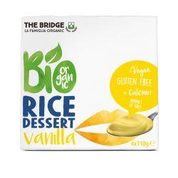 Desert din orez cu vanilie fara gluten 4 x 110g The Bridge