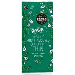 Ciocolata subtire organica cu gust de menta fara gluten x 30g Rawr