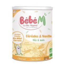 Cereale cu vanilie pentru bebelusi de la 6 luni x 400g Bebe Mandorle