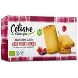 Biscuiti bio cu umplutura de fructe rosii fara gluten x 160g Celiane