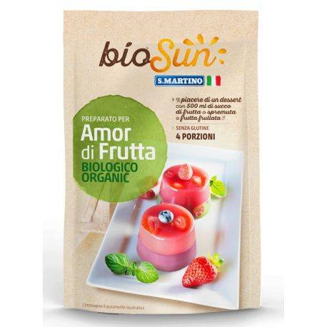 Preparat pentru desert cu fructe bio, fara gluten x 62g bioSUN